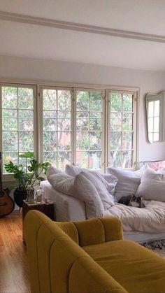 Interior Exterior, Home Interior Design, Interior Plants, Interior Modern, Sofa Design, Living Spaces, Living Room, Home And Deco, My New Room
