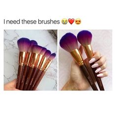 Create professional, flawless looks with GWA's Vegan & cruelty free brushes. Sleek & super soft makeup brushes available to buy as sets or as individuals. Find marble, mermaid, rainbow and more online. Soft Makeup, Pretty Makeup, Beauty Makeup, Cruelty Free Brushes, Cruelty Free Makeup, Makeup Supplies, Brush Sets, Purple Ombre, Makeup Goals