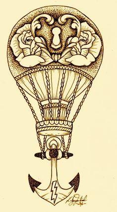 Resultado de imagem para balloon tattoo drawing