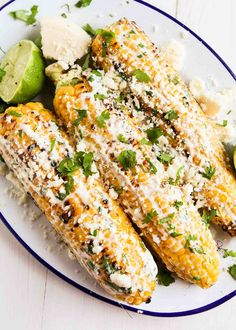 Grilled Mexican Street Corn (Elotes) ~ Grilled Mexican Street Corn is so easy to make at home and makes a fun change to your usual corn…