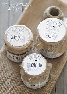 mermelada de cebolla y pimientos agridulces Tea Packaging, Packaging Design, Jam Label, Food Design, Tapas, Food And Drink, Favorite Recipes, Stuffed Peppers, Homemade