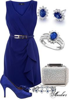 """""""Sapphire Waterfall Dress"""" by stay-at-home-mom on Polyvore"""