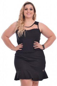 Vestido Saia Piquet Black