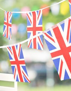 Bring out the bunting! No British themed party is complete without some Union Jack bunting - perfect for the Queen's 90th birthday, a Wimbledon party or a Best of British party theme.