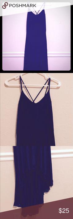 Spotted while shopping on Poshmark: Navy Blue Asymmetrical Dress! #poshmark #fashion #shopping #style #Charlotte Russe #Dresses & Skirts