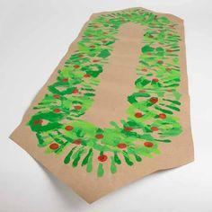Craft Painting - DIY Christmas Table Runner