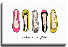 Addicted to Flats by Coco Draws Graphic Art on Gallery Wrapped Canvas