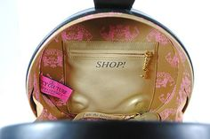 Juicy Couture Authentic Black Leather Handbag Travel Vanity Cosmetic Case Purse | eBay