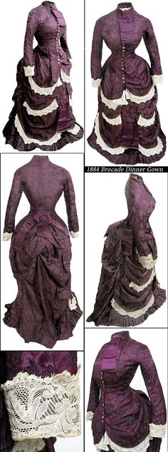 1884 bustle gown