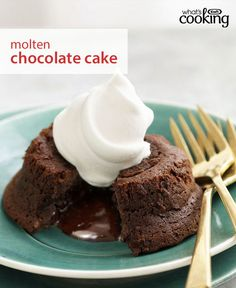 Keep this easy, crowd-pleasing cake recipe in your collection. It's just the right dessert to serve when you have guests to impress. Click photo for this Molten Chocolate Cake #recipe.