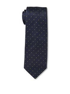 57% OFF Corneliani Men's Dot Tie, Blue/Yellow