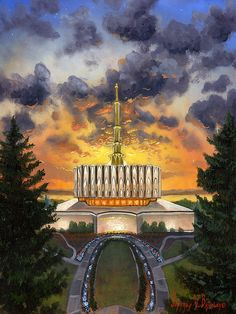 THE PROVO TEMPLE IN UTHA (MORMONS)