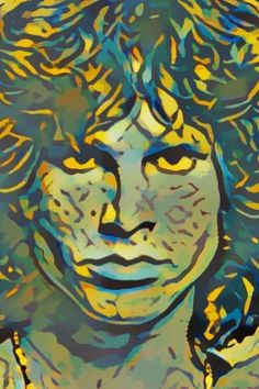 Jim Morrison edited with Painnt App | Filter > Clayton Kashuba.  Painnt uses neural networks to generate gorgeous artwork from your Camera roll. #trippy #digitalart  #filter #digitalillustrations