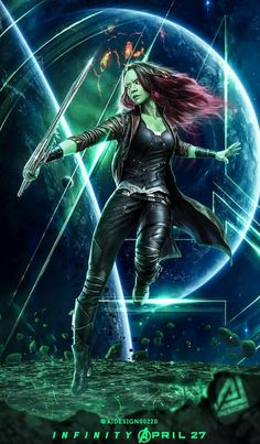 Gamora in Avengers Infinity War    Guardians of the Galaxy