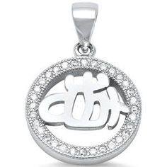 Micro Pave Cz Allah 925 Sterling Silver Pendant Necklace -- Continue to the product at the image link. Hamsa, Sterling Silver Bracelets, Allah, Jewelry Rings, Dangles, Stud Earrings, Pendant Necklace, Pendants, Image Link