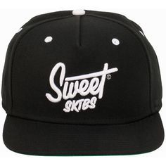 Sweet Cap Snapback Script ($45) ❤ liked on Polyvore featuring accessories, hats, accessories miscellaneous, black, womens-fashion, adjustable cap, brimmed hat, black hat, black snapback hats and snapback cap