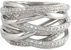 EFFY COLLECTION - Diamond-Accented Ring in 14 Kt. White Gold