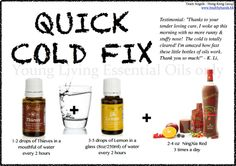 Quick Cold Fix with Young Living Essential Oils