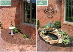DIY Backyard Pond Landscape Water Feature