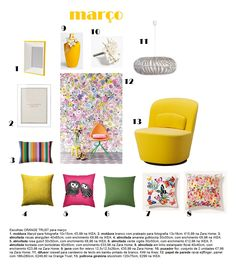 home, shopping list, trend, decoration, deco, flowers, yellow, Spring, 2015