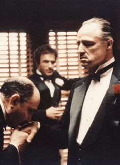 The Godfather - Marlon Brando The Godfather Saga, Godfather Quotes, Godfather Movie, Corleone Family, Don Corleone, Best Classic Movies, Great Movies, Mafia, What Makes A Man