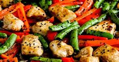 Low-Carb Chicken Stir-Fry Sheet Pan Meal