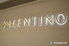 brushed metal signage | 3D LED Backlit Signs With Brushed Gold Plated Letter Shell For ...