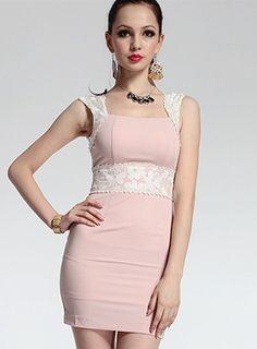 Beautiful lace toast evening dress