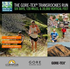 Gore-Tex TransRockies Run partners with backcountry.com.