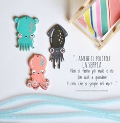 "Al grido di ""Estate!"" è arrivato il #clubsquid. Handpainted bijoux collection #clubsquid by craftpatisserie, cute kawaii squid octopus sepia charms Estate, Enamel, Kawaii, Tableware, Instagram, Arts And Crafts, Vitreous Enamel, Dinnerware, Tablewares"