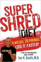 Super SHRED (2013) is a 4-week very rapid weight loss diet, written by Dr. Ian Smith of The Doctors. - Negative energy balance – eat fewer calories than you burn. - Calorie disruption – intermittent fasting, with dramatically varying calorie consumption. - Sliding nutrient density – load up on healthy nutrients while minimizing calorie consumption. - Every meal and snack is listed, with some flexibility. - After 4 weeks, if you still want to lose more weight, move to the regular SHRED diet.