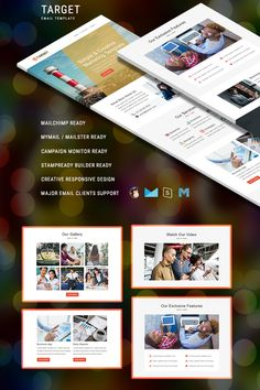 Target - Responsive Email Newsletter Template Newsletter Template Free, Email Templates, Mail Chimp Templates, Campaign Monitor, Responsive Email, Song Words, Web Design Software, Email Client, Classroom Bulletin Boards