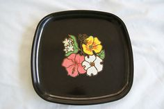 Vintage Couroc Western Airlines tray--I use it as a Cheese plate!