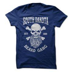 SOUTH DAKOTA BEARD GANG T-Shirts, Hoodies. ADD TO CART ==► https://www.sunfrog.com/LifeStyle/SOUTH-DAKOTA-BEARD-GANG.html?id=41382
