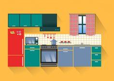 Pacote vector bela cozinha Vetor grátis