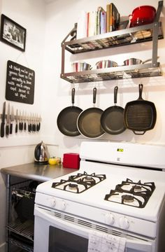 Lauren's Eclectic San Francisco Apartment House Tour- great use of a small kitchen