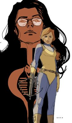 """Scarlett and The Baroness."" Ah, Phil Noto. So, so good."
