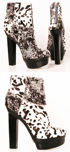Black and White Booties - way to fire up an all black outfit. Make that any outfit!