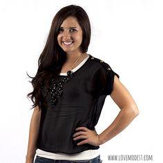 Black Sheer Shirt $19 www.lovemodest.com