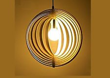 Wood Lamp - Eco-friendly - Wooden Lampshade - Decorative ceiling lamp  *40CM*