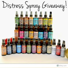 Win all of these fabulous Tim Holtz Distress Stain Sprays from Blitsy!