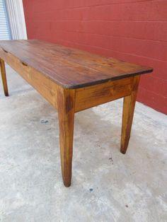 English Antique Harvest Table Pine Table Antique Primitive Furniture
