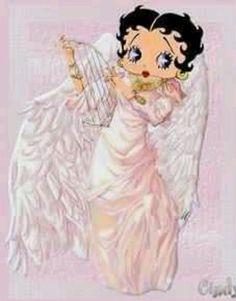 Pink angel w/harp