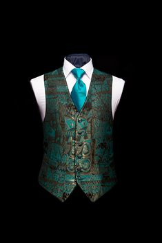 Green and gold limited edition silk damask waistcoat with green silk piping by Neal & Palmer Indian Men Fashion, Mens Fashion Suits, Men's Fashion, Wedding Dress Men, Wedding Suits, Waistcoat Men Wedding, Modi Jacket, Blazer Outfits Men, Indian Groom Wear