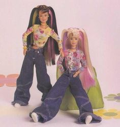 1998 Happenin' Hair Barbie & Teresa - I have the Teresa - hair changes colour with the warmth of your hand Barbie Toys, Barbie I, Vintage Barbie Dolls, Barbie World, Vintage Toys, Barbie Style, 90s Childhood, Childhood Memories, Porcelain Dolls For Sale