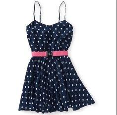 #areopostale super cute polka dot dress