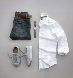 Are you wondering how to wear white sneakers for men or how to look sharp in simple jeans and casual shirt outfits? Then this 30 coolest casual street style looks is just the perfect guide you need to help you look AMAZING! Mode Masculine, Casual Wear, Casual Outfits, Men Casual, Casual Clothes For Men, Style Clothes, Smart Casual, Mode Man, Teen Boy Fashion