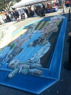 Chalk Art Chalk Festival, Chalk Art, Sci Fi, Science Fiction