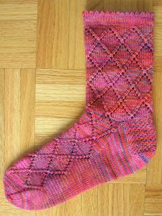 Diamond Lace Socks  <--- Well isn't that just lovely.  Would also make a great men's sock, and it's hard to find nice, intricate, but masculine patterns.