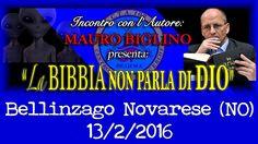 Mauro Biglino, La Bibbia non parla di Dio - Conferenza a Bellinzago Nova...